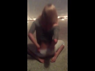 Krissy Lynn gives a drunken strip tease and lap dance - real life