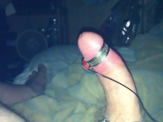 I use a TENS unit to estim my cock to orgasm hands free.