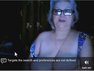 russian granny ex teacher flashing her big tits on webcam skype