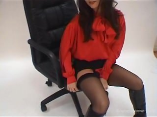 Satin Secretary Carla Strips
