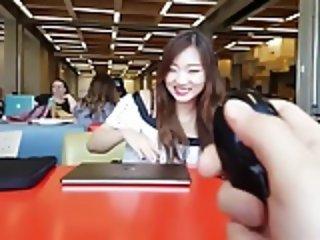 Cute Asian babe & the boyfriends vibrator remote