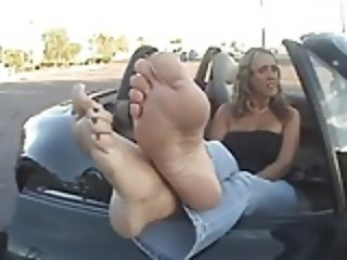 Mature Blonde Sheila's feet.
