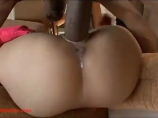 tiny asian slut gets huge big long black cock plowed and huge facial