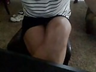 Desktop spycam of my neighbor upskirt during her studies.mp4