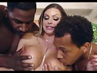Busty Slut BC Interracial Gangbang