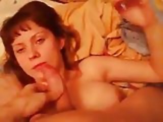 Brother sister fucked between Boobs and in her mouth