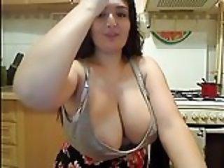 Hot brunette tits