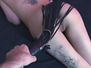 Dom spanks and plays with his Sub girl