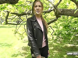 Alexis Crystal fucking in public for extra cash