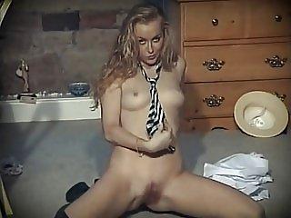 I'M NOT SCARED - British schoolgirl uniform striptease