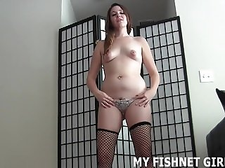 My slutty pink fishnets will get your dick nice and hard