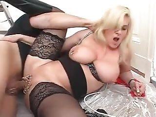 Marina Montana German Saggy Tits Assfucked Black Stockings