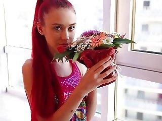 cute and skinny sexy teen Ariel teasing
