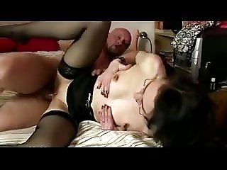 Sexy Housewife Gets 3 Way fuck with two studs