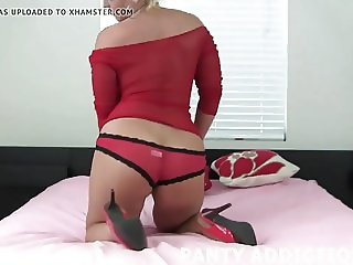 My plump pussy is barely covered by these panties JOI