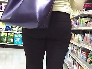 Brunette Spandex Cute Ass