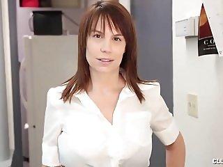 Buxom Milf POV Cum On Tits Handjob For Young Guy