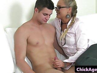 Client fucks casting agents pussy balls deep