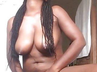 My African girlfriend masturbates for Me part 2