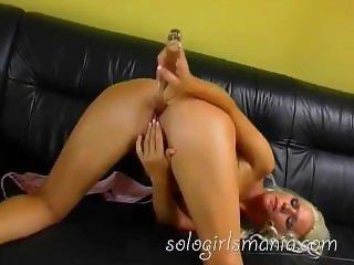 Anal Masturbation and Orgasm with Hot Slutty Blonde