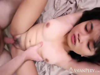 Asian girl gets seduced and banged