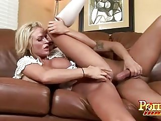 Blonde Pornstar Gets Mouth Jizz