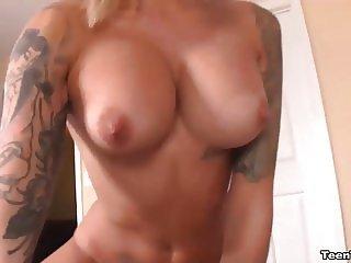 Blonde Teen Wants To Jerk Off His Big Cock
