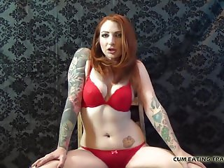 Cover my with your cum and lick me clean CEI