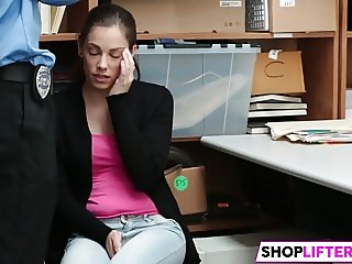 Beautiful Sweety Bobbi Gets Drilled For Theft