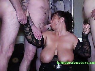 To many cocks for Granny Kim