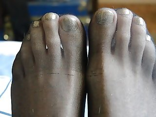 Gold Toes in Pantyhose
