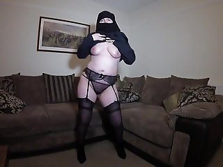 Burqa Niqab Stockings Striptease