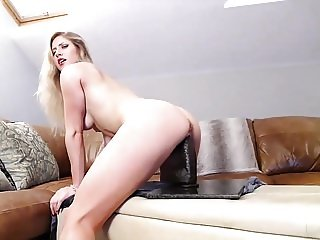 Blonde In DP With A Monster Dildo And Her Man