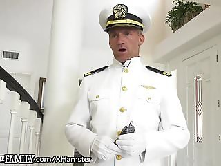 Bratty Ebony Daughter Disciplined by Military StepDaddy