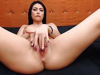 Pretty Brunette Having a Nice Masturbation Show
