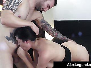 Big French Dick Alex Legend Fucks Hot Brunette Sovereign Syr