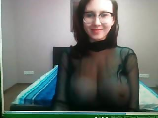 Beautiful webcam girl with big firm tits