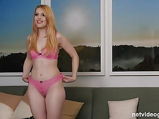 Creampie Filling For This Strawberry Blonde Calendar Girl