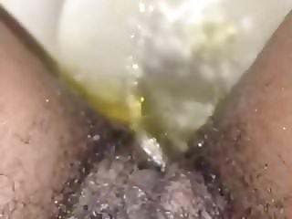 Ebony Ex-GF pissing 2