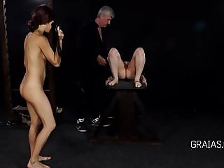 Slave gets pussy whipping