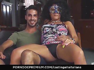 CASTING ALLA ITALIANA - Kinky blowjob and pussy licking