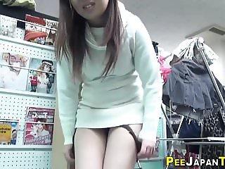 Japanese slut drinks piss