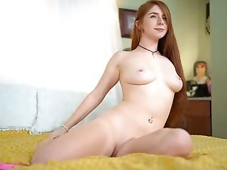 Sexy Redhead Striptease and Blowjob, Long Hair, Hair