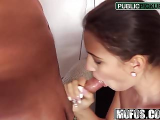 Cindy Loarn - Hot Brunette Sucks Dick - Public Pick Ups