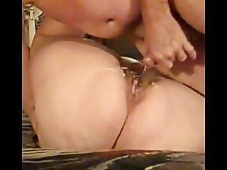 Lots of cum on  fat ass sister Kate