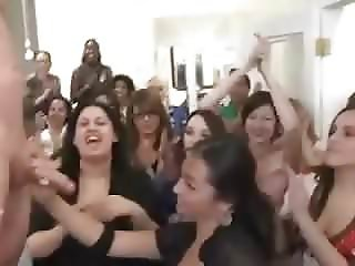 MILF Latina gives stripper a hj to the finish