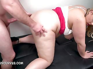 Blonde Cougar visits her Doctor for anal