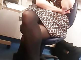 British doctor in stinky sweaty pantyhose