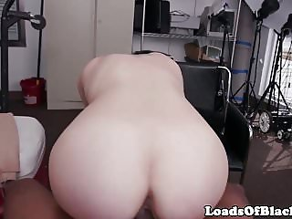 Interracial amateur POV fucked at audition