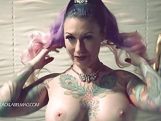 Tattooed Beauty Strips Naked